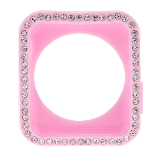 Luxury Crystals-embedded TPU Case Protective Cover for Apple Watch iWatch Standard Sport Edition 42mm