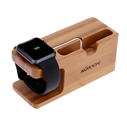 KKmoon 2 em 1 carga Stand titular para iWatch relógio da Apple 38mm 42mm toda a edição para iPhone 6 6S 6 Plus 6S Plus 5S 5 C 5 Samsung Galaxy S6 S6 de borda HTC Smartphone Eco-friendly Material elegante Lightweight Portable durável