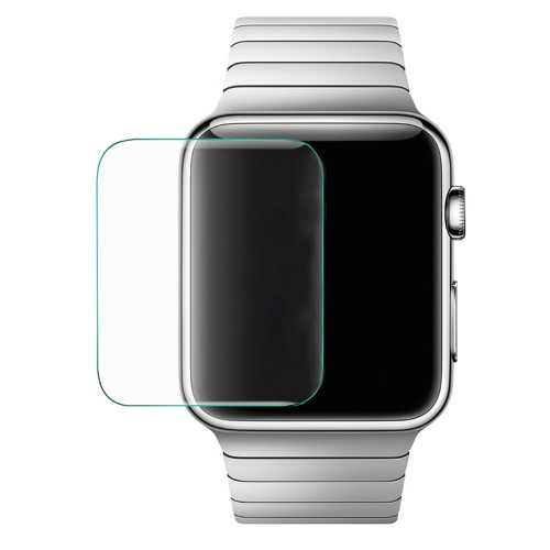 Premium Tempered Glass Screen Protector Cover for 42mm Apple Watch iWatch 8-9H 0.3mm Thick High Transparency Anti-scratch Anti-dust Explosion-proof