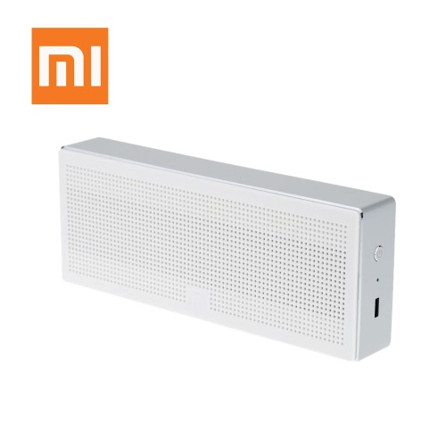Original Xiaomi Square Box 10 Hours Bluetooth 4.0 Handsfree Wireless Mini Portable Stereo Bass Speaker Black Aluminum for Xiaomi iPhone Android Phone