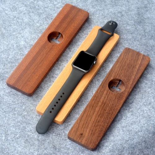 Wooden Charging Stand Holder for Apple Watch iWatch 38mm 42mm All Edition Sapele Wood Eco-friendly Material Stylish Lightweight Portable Durable