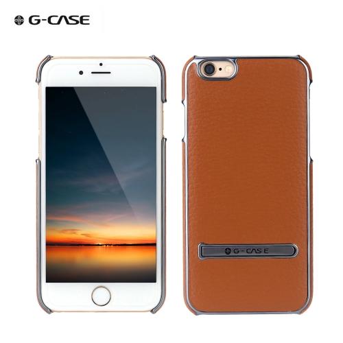 G-caso moda PC + PU Hard caso luxo volta pele protetora Case para iPhone 6 Plus 6S Plus 5,5