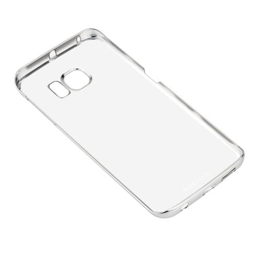 G-cas Fashion luxe Bright Bling retour boîtier Transparent avec armature en métal pour Samsung Galaxy S6 edge