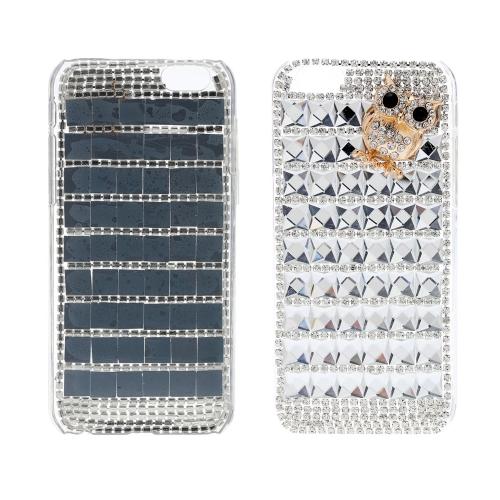 保護ケース 高級キラキラヒョウ 特殊金属 フクロウ パターン設計 Samsung Galaxy S6 PC Phone用【並行輸入品】