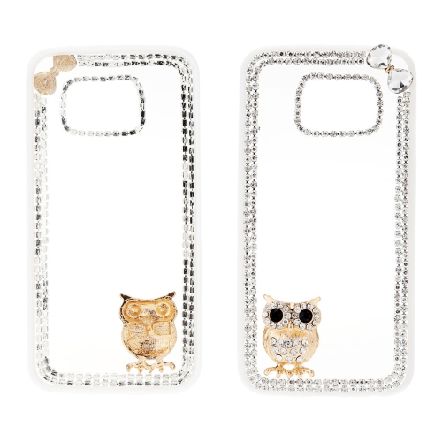 Moda PC telefone proteger caso luxo Bling Bling cristal com especial Metal coruja Design Pattern para Samsung Galaxy S6