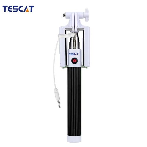 TESCAT TS900 Asta con Fili Monopiede di Selfie Allungabile e Telescopio Supporto di Palo Pulsante Remoto con il clip di 8