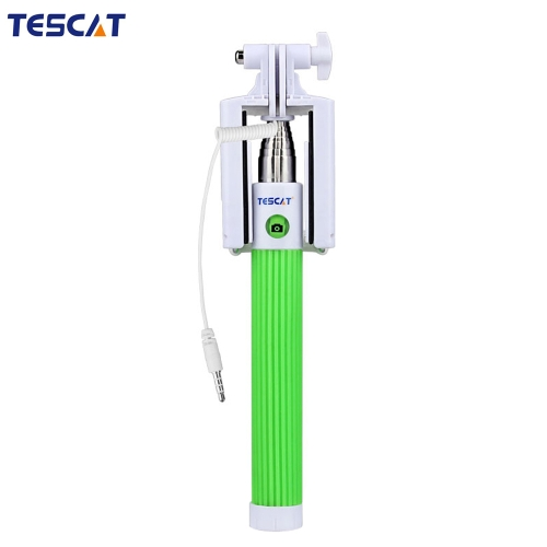 TESCAT TS900 Wire Shaft Telescoping Extending Selfie Monopod Stick Holder Remote Button with Clip 8