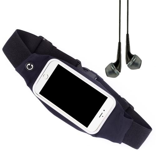 Casual cintura esporte correndo bolsa saco Sweatproof bolsa celular carteira Zipper caso titular Pack com cinto para 1