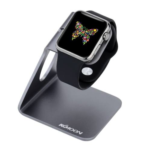 KKmoon Aluminium Alloy Charging Stand Holder Dock Station for Apple Watch iWatch 38mm 42mm All Edition Eco-friendly Material Stylish Lightweight Portable Durable