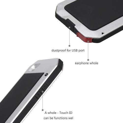 Прочный Защитный Чехол Оболочка Крышка Противоударный Пылезащитный Функция Отпечатков Пальцев из Металла для iPhone 6 6S 4.7