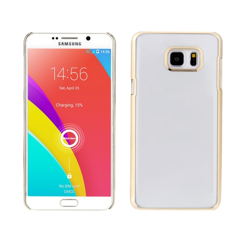 Luxury Glitter Plating Aluminum Metal Frame Mirror Acrylic Back Cover Anti-knock Cell Phone Case for Samsung Galaxy Note 5