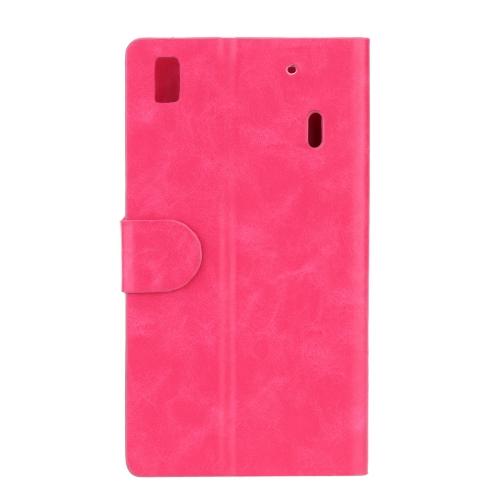 KKmoon Flip PU couro pára-choques caso capa protetora com carteira Stand para Note Lenovo K3