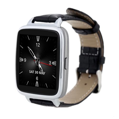 Lonfine Bluetooth 4.0 inteligente relógio genuíno couro Starp Sync chamar música para iPhone 6 6S Samsung HTC IOS Android Smartphone pedômetro coração taxa