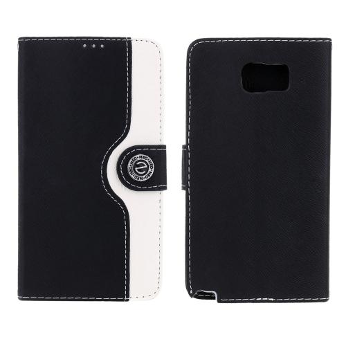 Carteira caso flip luxo PU couro tampa corpo proteger Shell cartão Insert Stand caso para Samsung nota 5