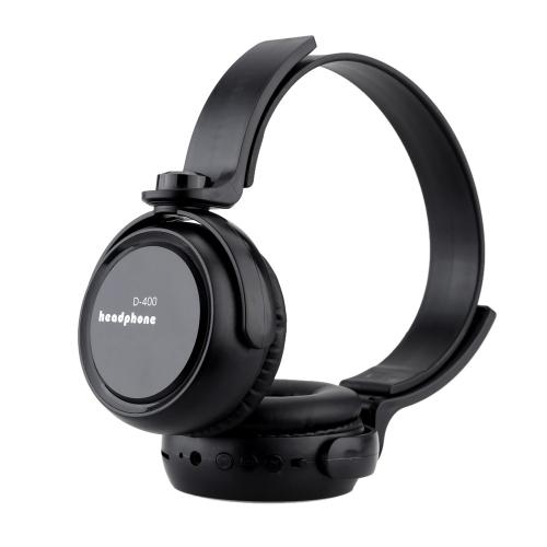Wireless Bluetooth Stereo retrattile 4.0 cuffie auricolari con microfono telefono rispondendo linea Audio esterna funzione TF Card