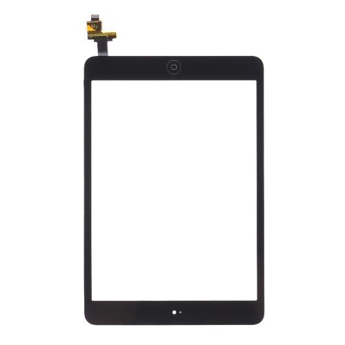 Exterior G + G Capacitiva Touch tela multi-touch digitador substituição Assembly com IC conector Flex botão Home para iPad mini 1 2