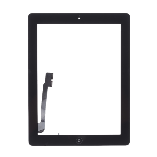 Outer G + G Capacitive Touch Screen Multi-touch Digitizer Replacement Assembly with Flex Home Button for iPad 4