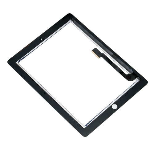 Outer Touch Screen Multi-touch Digitizer Replacement Assembly with IC Chip Connector Flex Home Button for iPad 3 iPad 4