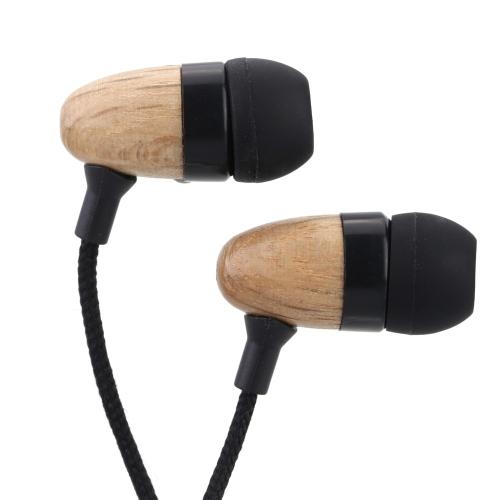 通用 カナル型 ヘッドセット イヤホン ファッションなデザイン 木製ビーズ装飾のステレオヘッドフォン  iPhone Samsung Mp3 すべての携帯電話に適用