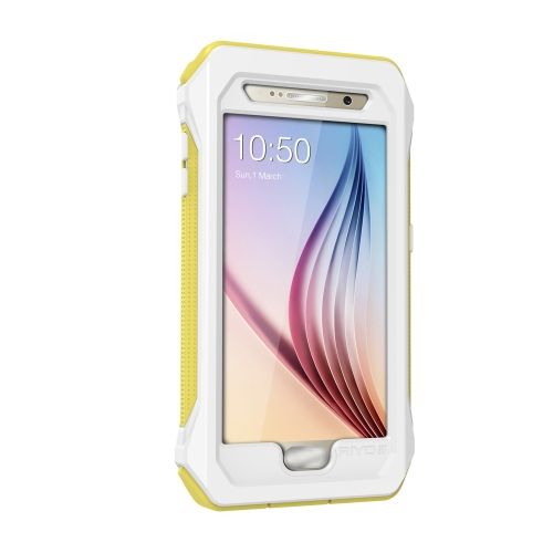 RIYO Light Weight Waterproof Case Shell Dustproof Waterproof IP68 Shockproof Fingerprint Recognition with Stand Touch Screen for Samsung S6