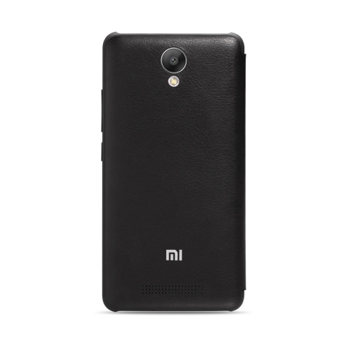 Original Xiaomi Redmi Note 2 PU Synthetic Plastic Leather Case Flip Protective Cover with Back Cover for Redmi Note 2