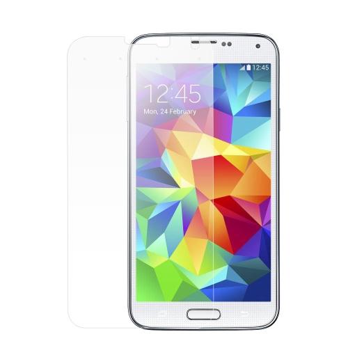 ADPO novo temperado vidro protetor de tela capa de filme com 4 teclas virtuais inteligentes para Samsung S5 9H 0,33 mm ultrafinos transparência elevada anti-sujeira inquebrável anti-riscos