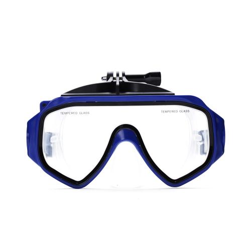 Mergulho máscara ação câmera acessórios mergulho Google snorkel Silicone temperado vidro óculos para Xiaomi Xiaoyi câmera