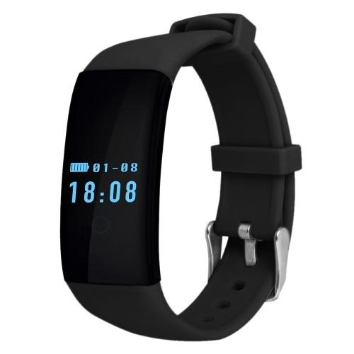"""Sekundenzeiger DFit D21 Smart Watch Herzfrequenz Armband Armband 0,66 """"64 * 48 Pixel OLED Touchscreen Text Benachrichtigung über eingehenden Anruf Pedometer Bewegungsmelder NFC für iPone 6 6S 6 Plus 6S Plus Samsung S6 S7 Rand Android 4.3 iOS8.0 oder höher"""
