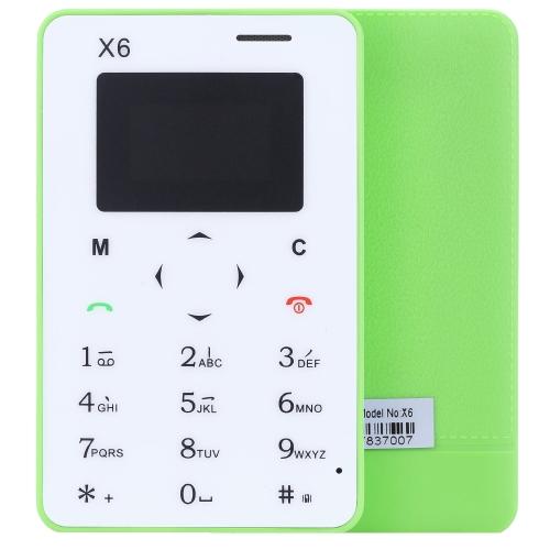 Aiek X6 2G GSM カード ミニモバイル 携帯電話 ポケット 子供ウルトラ スリムMTK6261D 0.96