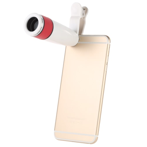 12X Zoom Phone Universal Telephoto Camera Lens with Clip for iPhone Samsung HTC Photography Accessory