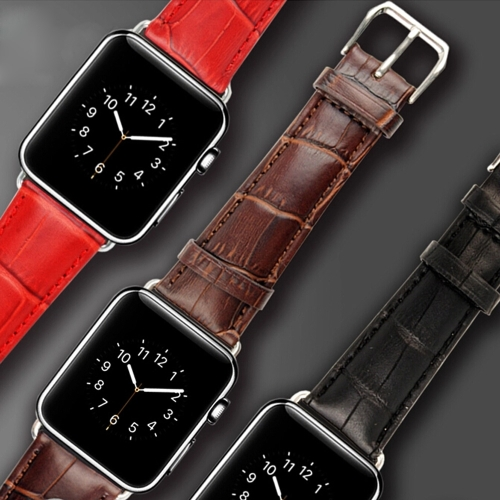 Роскошный Натуральный Ремешок для Часов Кожаный Ремешок Классическая Застежка из Нержавеющей Стали Смарт-часы Полос для Apple Watch iWatch 42mm