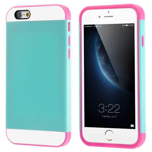 Link Dream Contrast Color Lightweight Fashion Bumper Shell Case Protective Back Cover for iPhone 6 6S 4.7