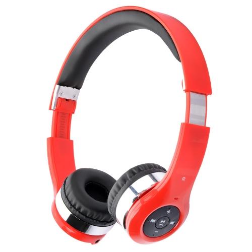 New Bee Estéreo Fone de Ouvido Fone de Cabeça BT Sem Fio Fone de Ouvido Elástico Dobrável com Microfone BT On/Off Jogar Controle de Volume Música Anterior Próxima Música Discar de Novo/Respostar/Rejeitar/Encerrar Chamadas para iPhone 6 6 Plus 6S 6S Plus Samsung S6