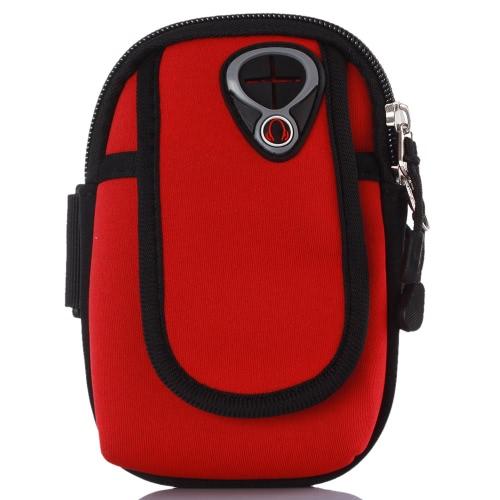 Suar-absorvente braço bolsa Jogging banda ginásio executando cinta ajustável para 4,7