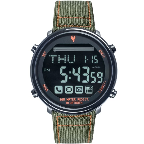 Youngs PS1600 BT 4.0 Smart Watch 30M eau résistant à 365 jours en veille pour l'iPhone 6 6 Plus 6 s 6 s Plus IOS 6.0 Android 4,3 BT 4.0 au-dessus de Smartphone appeler avis trouver téléphone SOS BT photos