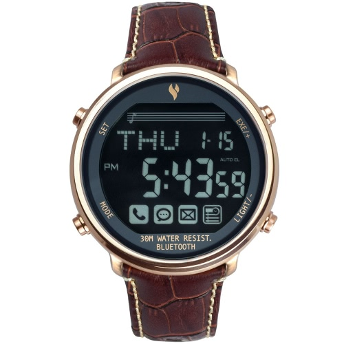 Youngs PS1600 Bluetooth 4.0 Smart Watch 30M Water Resistant 365 Days Standby for iPhone IOS 6.0 Android 4.3   Bluetooth 4.0 Above Smartphone Call Notice Find Phone SOS Bluetooth Pictures