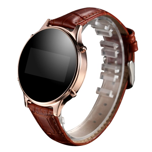 MT360 Android Bluetooth pedômetro inteligente relógio de pulso + PU banda 0.96 polegadas 240 * 240pixels tela OLED com anti remoto de câmera chamada lembrete para Samsung S6 S7 S7 borda Motorola LG HTC Smartphone Sony