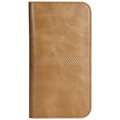 ROCK Universal luxo PU couro carteira bolsa telefone estojo com cartão Slot dinheiro bolso para iPhone 6 Plus 6S Plus Smartphones dentro 4.8 ~ 6.0 polegadas