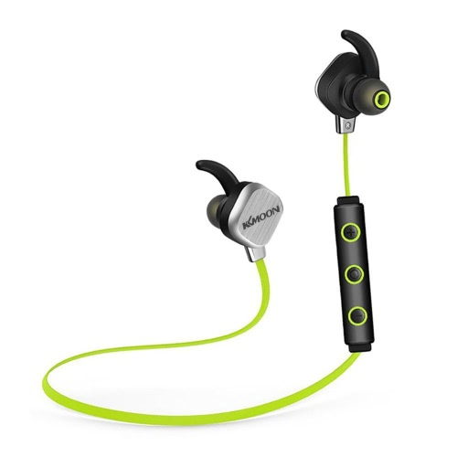 KKmoon IP55 Sports Bluetooth Headset Headphone Earphone 2 Mobile Phones Pairing for iPhone 6S 6S Plus iOS Android Smartphone Call Music Control Multi-point   Pairing