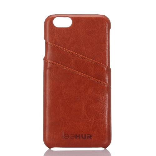 leeHUR Couro Telefone Genuine protetor de tela caso capa protetora Shell + para 5,5 polegadas do iPhone 6 Plus 6S Além disso Eco-friendly material moda portátil ultrafinos Anti-zero Anti-pó Durable