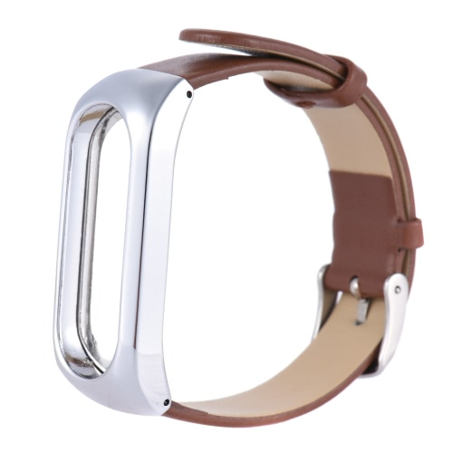 KKmoon Adjustable Unisex Leather Replacement Wrist Band Universal for Xiaomi Miband 2 Bracelet 2