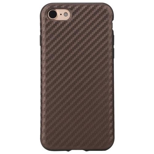 Fibra de Carbono ROCHA Grain TPU Phone Case 360 graus Proteger telefone tampa da caixa Soft Shell de protecção de alta qualidade para o iPhone 7 4.7inch