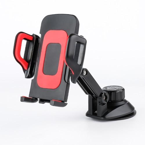 Bloccato parabrezza staffa supporto del supporto dell'automobile universale del telefono mobile a 360 ° di rotazione automatica per il GPS Smartphone 3.5-7inch