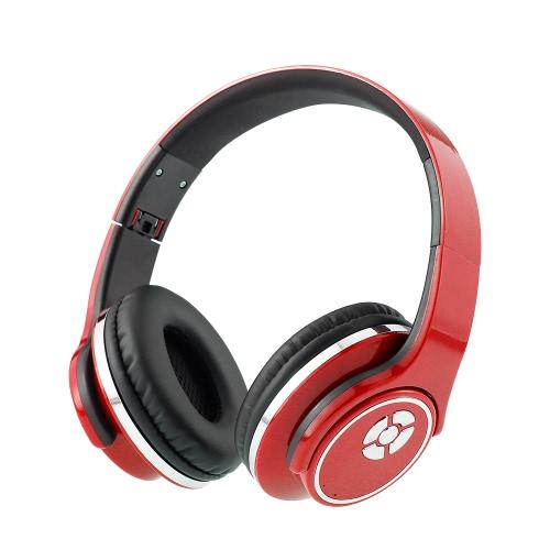 Elegante Wireless Multifuncional BT Stereo Headset Combo Longo tempo de trabalho Foldable Design Sport Fone de ouvido fones de ouvido com microfone para ouvir Music Radio