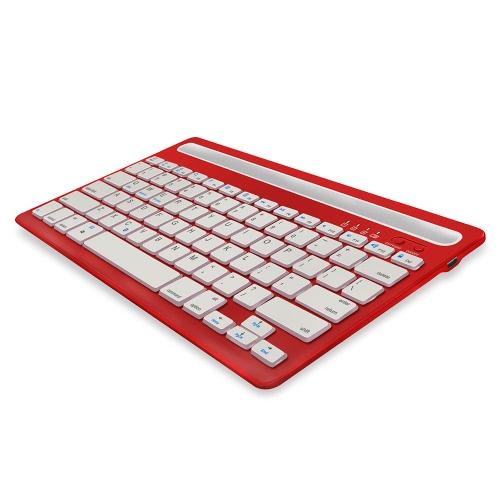 Teclado de canal duplo Teclado sem fio Bluetooth para Tablet Laptop