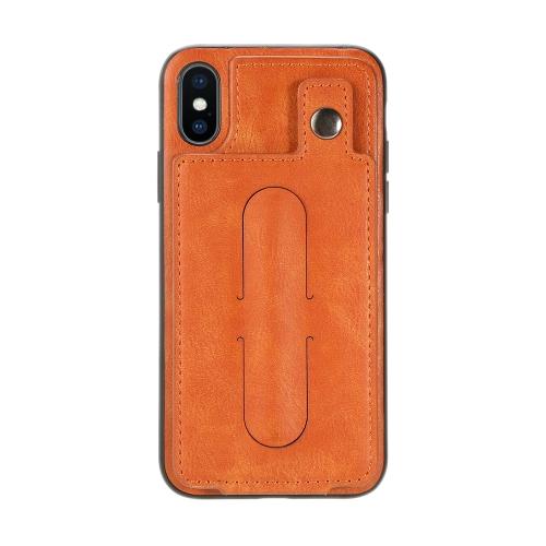 Caixa de telefone Proteção contra choque Anti-Scratch Proteção 360 ° Estojo de telefone celular Tampa protetora do compartimento traseiro com suporte de espelho traseiro escondido para iPhone X
