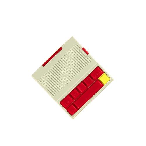 Banco de energia portátil alivia o Stress Vintage Keyboard Carregamento de telefone externo para iPhone e mais vermelho