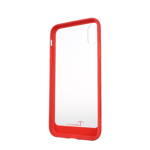 tempered glass case ultra-thin transparent protective cellphone case back cover protector shock absorption anti-scratch tpu bumper for iphone x