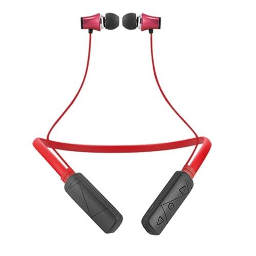 Casque stéréo sans fil BT4.1 style Neckband écouteurs intra-auriculaires (rouge)