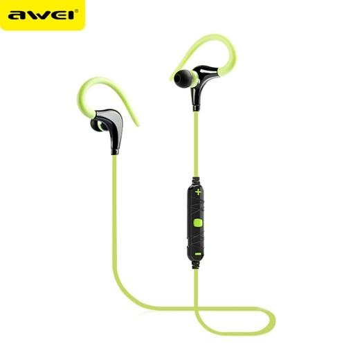 Awei A890BL Auriculares deportivos internos en la oreja Auriculares estéreo universales Auriculares deportivos impermeables a prueba de sudor con gancho para la oreja